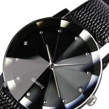 Novelty Woman Luxury Stainless Steel Quartz Leather Band Wrist Watch