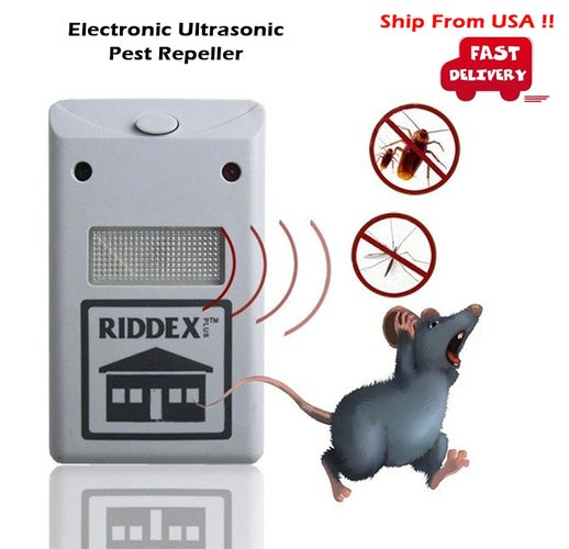 Electronic Ultrasonic Rat Mouse Repellent Anti Repeller killer Rodent Pest Bug Reject Mole mice