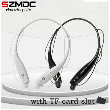 HOT 730 SD Card Slot Wireless Bluetooth Headset Sports Bluetooth Earphones Headp