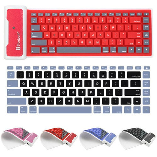 Waterproof Flexible Silicone Soft Wireless Bluetooth Mini Keyboard for Laptop iPhone iPad Many Colors