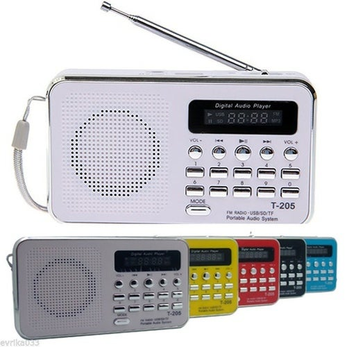 New Mini USB TF SD Card FM Radio Portable Speaker For Old Children High Quality Good Bass Many Colors T205
