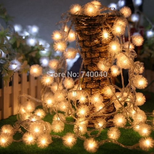 LED Fairy Xmas String Lights 40LED 15ft Dandelion Outdoor Indoor Rope Light Decorative Garden Patio Home Wedding Party Christmas