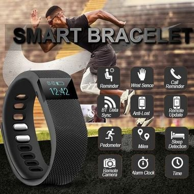 Sports Bracelet Bluetooth 4.0 Smart Wristband Digital-watch Pedometer APP For Ph