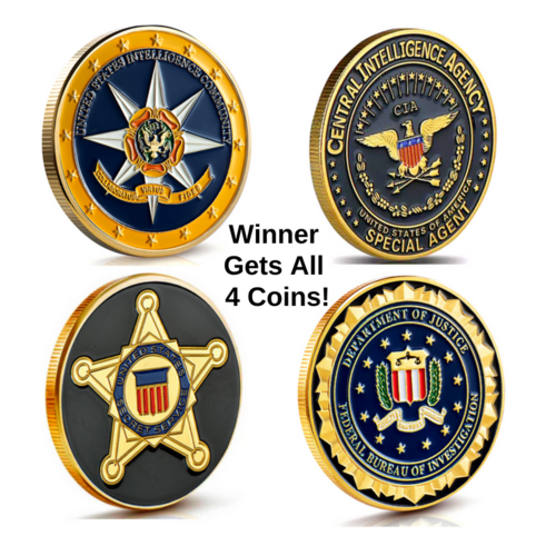 Military Challenge Coin Collection Set - FBI-CIA-Int