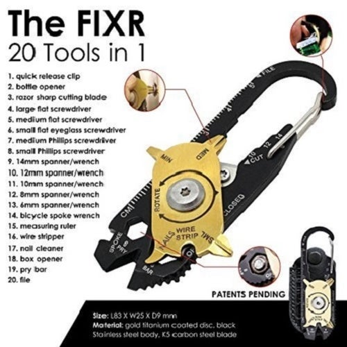 20 in 1 Portable Multi Tool Mini Utility Pocket Multipurpose Keychain Tool