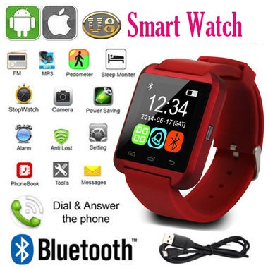 Bluetooth Watch U8 Smart watch WristWatch Smartwatch for Apple IOS Android phone