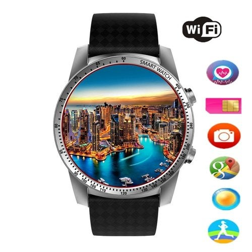 KW99 Round Bluetooth Smart Watch Unlocked Android 5.1 Wrist Phone SIM 3G WIFI Touchscreen Smartwatch Call Heart Rate Monitor Pedometer for Android Samsung IOS iPhone
