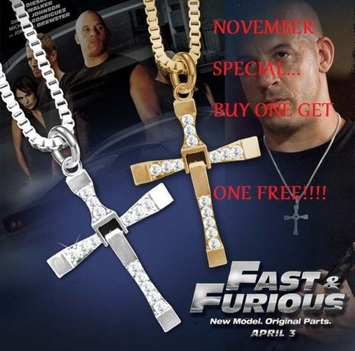 November Special... Buy one get one FREE !!!! Stainless steel AAA CZ Cross Chain