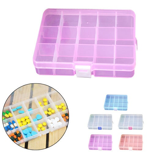 New Practical Candy color PP Hard Plastic 15 Slots...