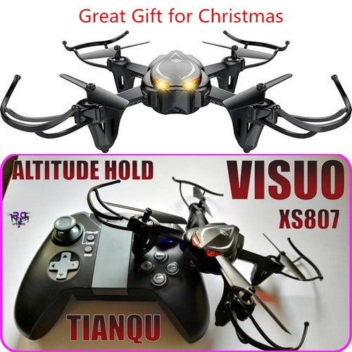 Great Gift for Christmas XS807 VISUO RC Quadcopter Drone RTF 2.4GHz 4CH 6-axis Gyro One Key Return