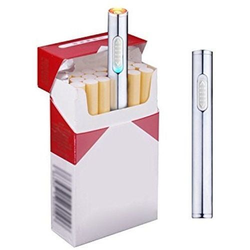 Cool Electric USB Recharge Metal Dual Arc Flameless Cigarette Windproof Lighter