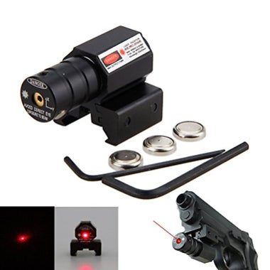 Red Dot Laser Sight Scope 21mm Rail Mount + 2x Wrench