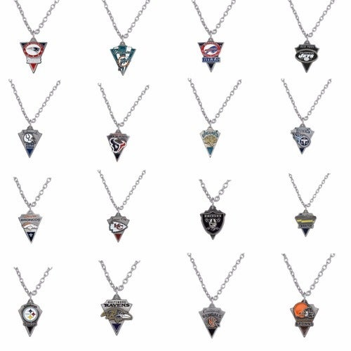 Are you Ready for Some Football!! Triangle Enamel Fashion Team Necklaces. You Choose your team