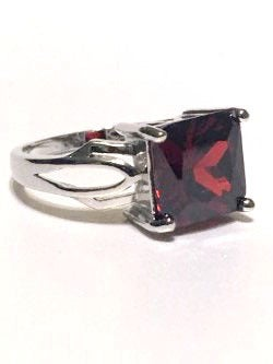 Cubic Zirconia & Silver Ring. Size 7, 8 or 9.