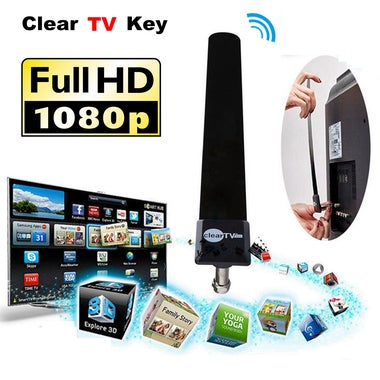 New Clear TV Key HD digital satellite Indoor TV Antenna receiver HDTV antenna US