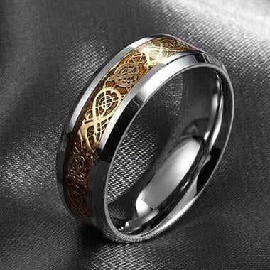 Stainless steel dragon ring fine jewelry how to train your dragon for men Weddi