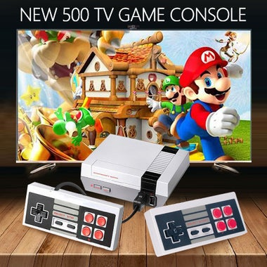 New!!! Mini Vintage Retro TV Game Console Classic 500 Built-in Games 2 Controlle
