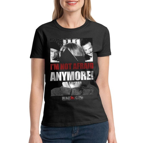 Home Alone I'm Not Afraid Anymore Quote Women's Black T-shirt