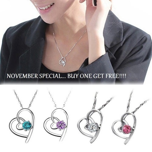 November special... Buy one get 1 FREE!!! Sterling silver AAA CZ necklaces