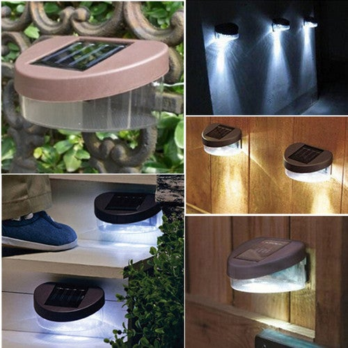 1 pcs Solar LED Powered Wall Lights Garden Outdoor Lighting