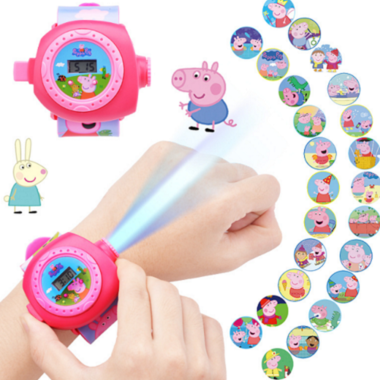 Kids' Cartoon Projection Digital Watch with Silicone Band