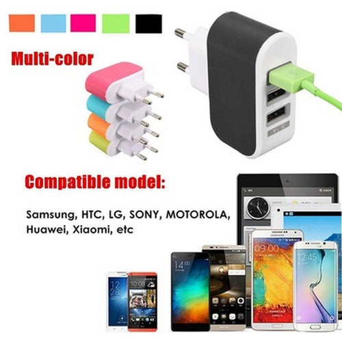 New Arrival 3-Port USB Wall Home Travel AC Charger Adapter for Phone