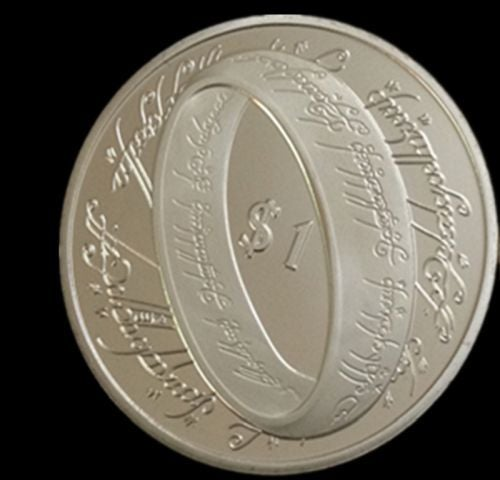 New Zealand $10.00 Copy - Lord of the Rings  .999 Silver Plated Commemorative Coin
