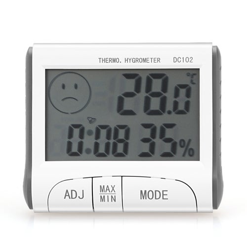 Indoor Large LCD Digital Thermometer Hygrometer Humidity Temperature Meter Gauge °F/°C Unit Support Alarm Clock with Stand & Magnet