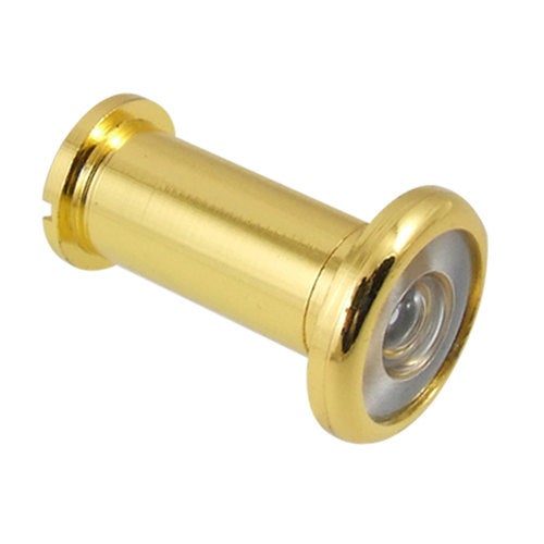 Unique Bargains Home Safety 180 Degree Door Viewer Peephole Gold Tone