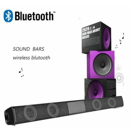 Home Audio&Theater Wireless Bluetooth Soundbar TV Stereo Speaker Subwoofer Bass Music Player TV Music Media Accessories