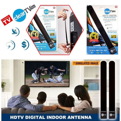 TOP  TV ANTENNA Key HDTV FREE TV Digital Indoor Antenna Ditch Cable US Seller ( 30 MILES DIRECTIONAL RANGE   NETWORK  AVAILABILITY VARIES BY AREA LOCATION      PLEASE CHECK THIS PRIOR TO BIDDING )
