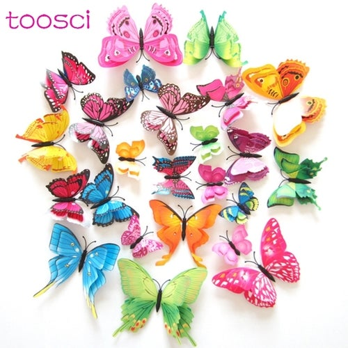 decoration 3D butterfly so beautiful gift for kids friends party christmas use
