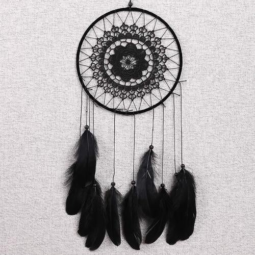 Handmade Dream Catcher Crochet Lace Feathers Beads Home Wall Car Hanging Decoration Ornament Gift