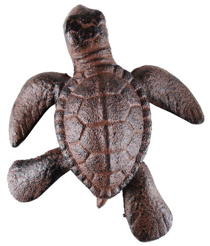 Cast Iron Nautical Tropical Ocean Reef Sea Turtle Figurine