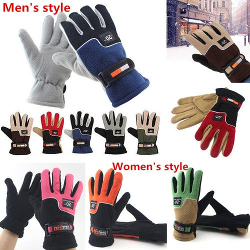 Outdoor Winter Sports Warm Fleece Full Finger Gloves Hunting Breathable Cycling Motorcycle Ski Snowboard Anti-skid