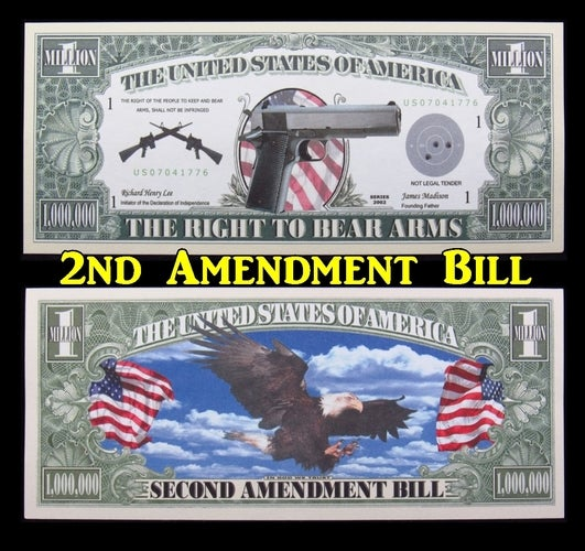 ~NEW ~ $1 Million Dollar Collectible Note **2nd Amendment**-  Great gift idea!!!!