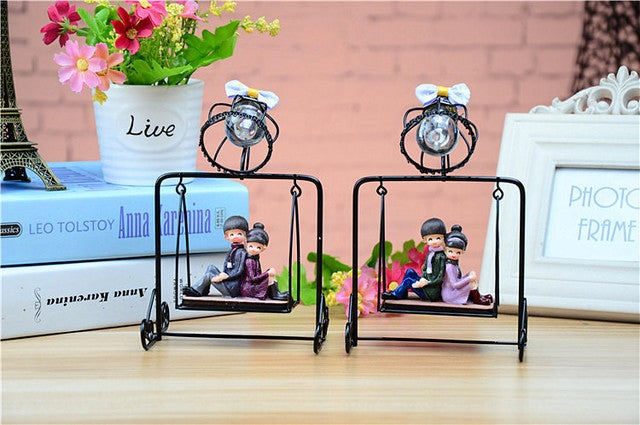1Pcs Night Light  European Iron Swing Creative DIY Home Furnishings