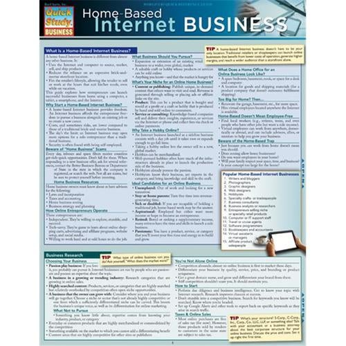 BarCharts 9781423218685 Home Based Internet Business Quickstudy Easel