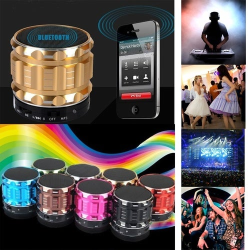 Portable Mini Wireless Bluetooth Speaker Stereo Subwoofer Outdoor Sport Loudspeaker with Mic +TF Card Slot FM S28 TW-829