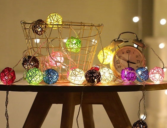 10 LED Color Rattan Ball String Fairy Lights For Xmas Wedding Party Hot