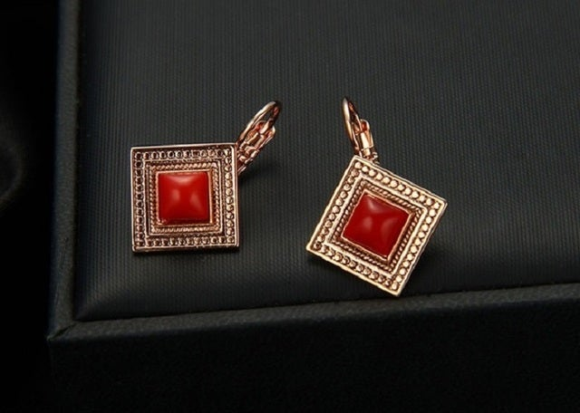 High quality earrings. Designer work. Lot's of details. Excellent size. Very limited inventory is available. Rich colors and absolutely gorgeous look in person.