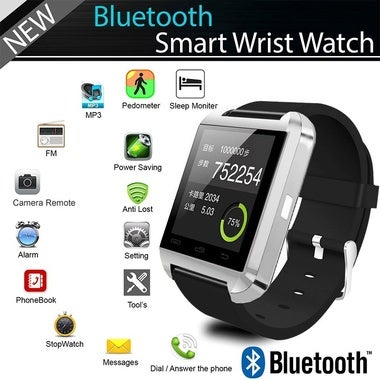 bluetooth smart watch u8 for Apple android phone support camrea men wristwatch p