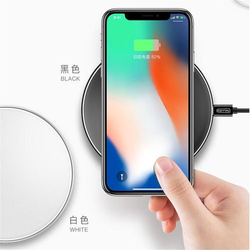 Fast Wireless Charger For Samsung / Apple iPhone / LG All Qi Devices Black White