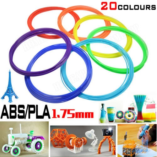 8Pcs 3D Drawing Printer Pen ABS/PLA Filament 1.75mm 10M each for Modelling