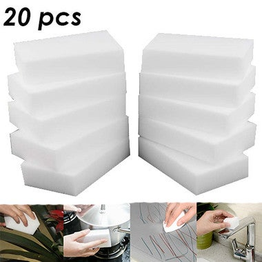 20 Pcs Magic Sponge Eraser Cleaner for Kitchen Office Bathroom Cleaning 10x6x2cm