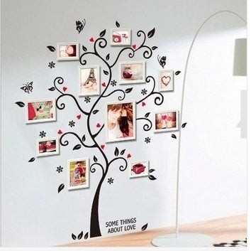 Large Size Family Photo Frame Tree Wall Sticker Stickers Home Decor Living Room Bedroom Decals 45*60CM