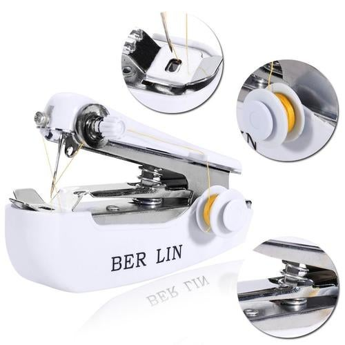 Household Mini Portable Hand-held Clothes Fabric Sewing Machine