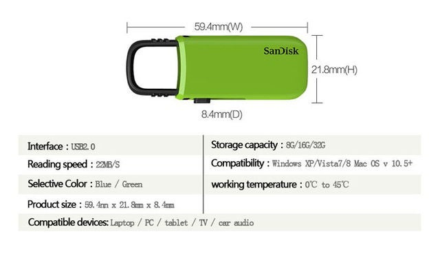 60% OFF MEGA SALE--- NEW 16GB Sandisk Cruzer U Data traveler USB 2.0 Flash drive memory stick storage
