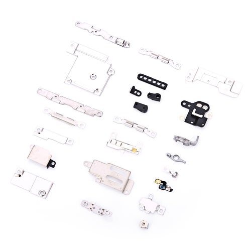 5 Sets Metal Parts Holder Bracket Shield Plate Home Logic Kit Replacements for iPhone 6(1 Color)