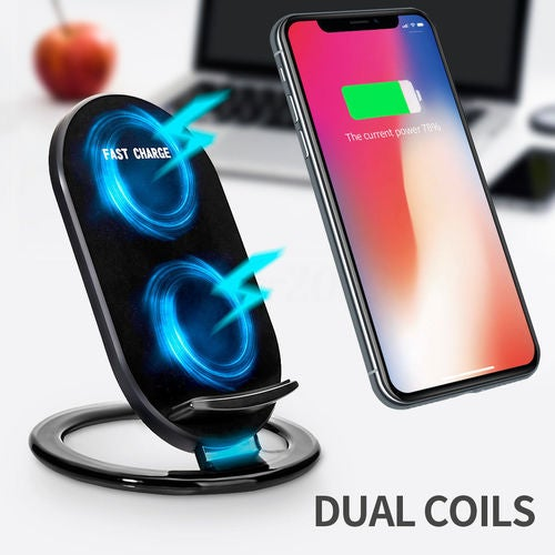 Best Qi Wireless Fast Charging LED Charger Stand Dock Holder Pad For iPhone Samsung